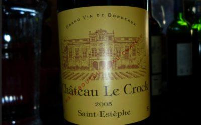 Le Chateau Le Crock 2005 !