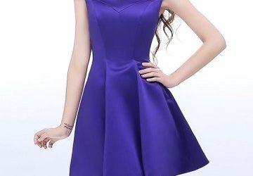Robe de soirée violette pour femme