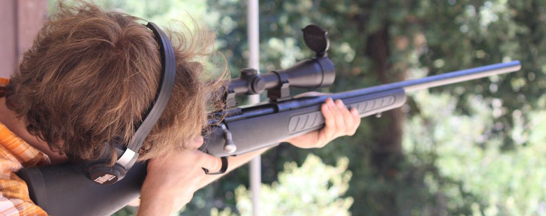 Carabine a plomb avec lunette de visée
