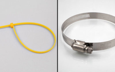 Différences entre collier de serrage plastique et inox